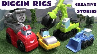 Thomas And Friends Play Doh Diggin Rigs Accident Crash Rescue Stories Bus Helicopter Fire Engine