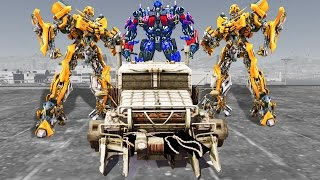 Download Lagu GTA V - BUMBLEBEE, OPTIMUS PRIME VS MEGATRON (GTA 5 TRANSFORMERS MODs) Mp3