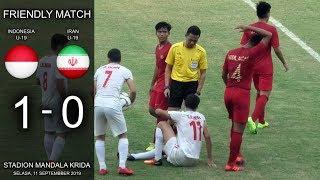Video Indonesia Vs Iran U-19 Highlights & Gol Friendly Match Live Stadion Mandala Krida Yogyakarta MP3, 3GP, MP4, WEBM, AVI, FLV September 2019
