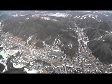 小川町 【竹沢小学校】 空撮 (2014.2.26 撮影)