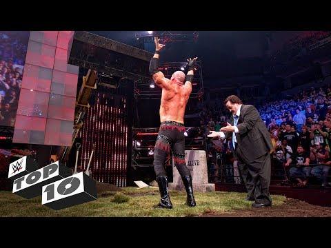 Superstars getting buried: WWE Top 10, March 12, 2018 (видео)
