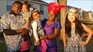KENYAN GRANDMA'S FIRST VALENTINE'S DAY + Family Photoshoot with African Kenyan Dress Vlog ep.94 미국일상
