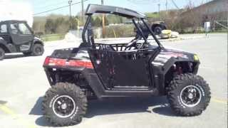 4. 2012 Polaris Ranger RZR S 800 Black/White/Red LE with Pro Armor Doors at Tommy's MotorSports