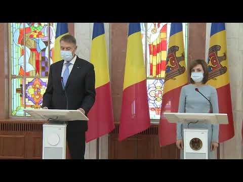 Președintele Republicii Moldova, Maia Sandu, l-a întâmpinat la Chișinău pe Președintele României, Klaus Iohannis
