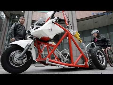 車いすのまま街疾走 電動三輪車