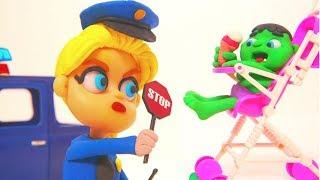 Video FROZEN ELSA POLICE STOPS BABY HULK ❤ Superhero Babies Play Doh Cartoons For Kids MP3, 3GP, MP4, WEBM, AVI, FLV Juni 2018