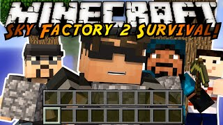 Minecraft Modded Sky Factory 2 : GIANT RUBBER TREES?!