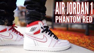 AIR JORDAN 1 PHANTOM RED REVIEW AND ON FOOT !!!