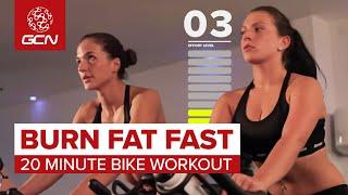Burn Fat Fast: 20 Minute Bike Workout Video