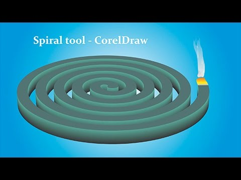 Using Spiral Tool & Extrude Tool - CorelDraw Tutorials