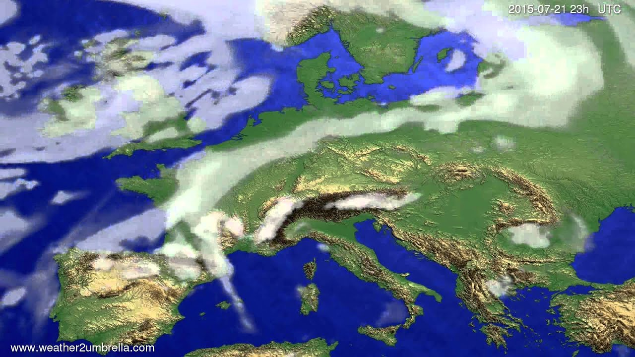 Cloud forecast Europe 2015-07-19