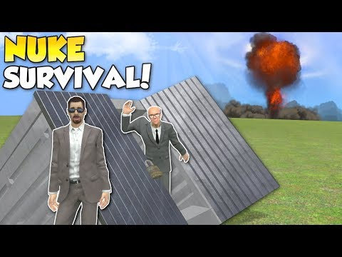 HOW TO SURVIVE A NUKE!? - Garry's Mod Gameplay - Gmod Nuke Survival Building Roleplay
