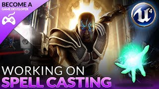 We take a look at how we can setup a spell casting state for our character, going over how we set up some blueprint to tell the engine when we should be casting and when to go into the spell casting state.We also go over how we can bind that spell casting state to a key on our keyboard, testing out a basic ability system.Unreal Engine 4 Beginner Tutorial Series:https://www.youtube.com/playlist?list=PLL0cLF8gjBpqDdMoeid6Vl5roMl6xJQGCBlueprints Creations Serieshttps://www.youtube.com/playlist?list=PLL0cLF8gjBpoojQ7YqsSsxycBe5S3ikkVResources: http://virtushub.co.uk/resources.html► Next VideoIn the next video we'll continue to bring our role playing game to life.♥ Subscribe for new episodes weekly! http://bit.ly/1RWCVIN♥ Don't forget you can help support the channel on Patreon! https://www.patreon.com/VirtusEduVirtus Learning Hub // Media● Facebook Page - https://www.facebook.com/VirtusEducation●Twitter Page - http://www.twitter.com/virtusedu● Website - http://www.virtushub.co.uk
