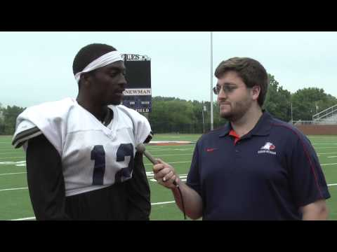 C-N Football: Anthony Eubanks post scrimmage interview 8-19-14