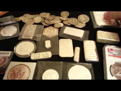 Silver bars, coins, bullions