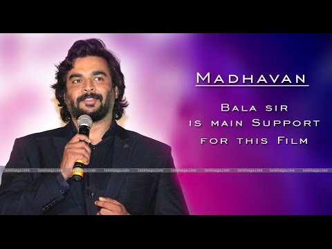 Madhavan says Bala sir is main Support for this Film Iruthi Sutru