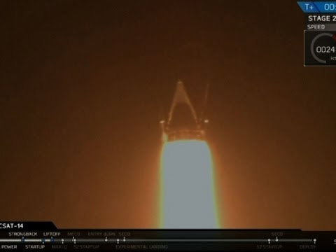 Raw: SpaceX Rocket Taking Satellite to Orbit