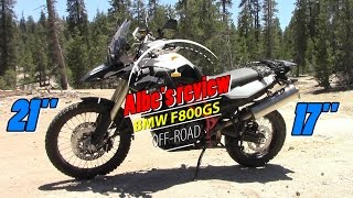 6. BMW F800GS off road specs and review
