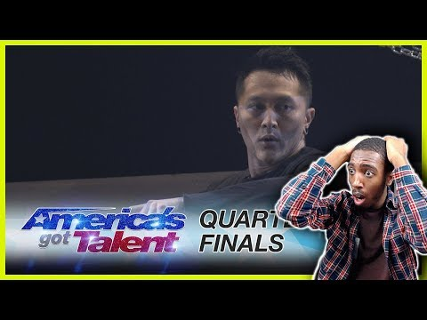 Demian Aditya: Escape Artist Attempts Death-Defying Stunt - America's Got Talent 2017 *REACTION* (видео)