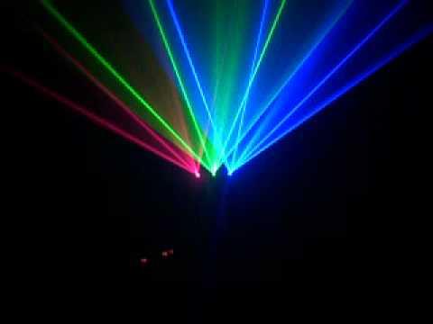 Đèn Laze 3 mắt 3 màu RGB quét tia cực rộng cho Beer club, Cà phê DJ