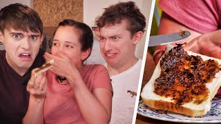 Video WEIRDEST British Spreads!? (Spicy Peanut Butter vs Black Butter!?) MP3, 3GP, MP4, WEBM, AVI, FLV Agustus 2019