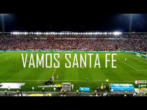 INDEPENDIENTE SANTA FE 1 - Nacional 1, salida La Guardia Albi-Roja Sur y gol, LGARS - La Guardia Albi Roja Sur - Independiente Santa Fe