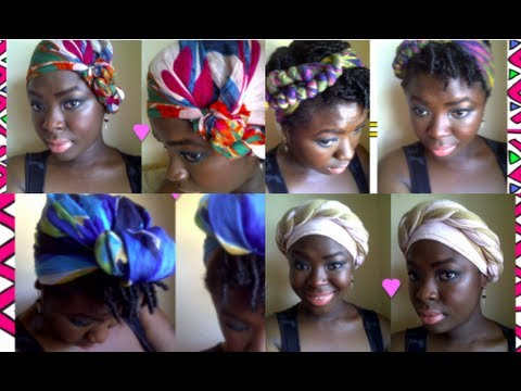 (14) Headwraps - How to tie headwraps in a multitude of different ways