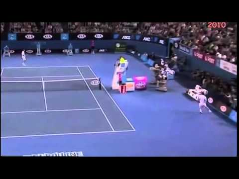 Compilation of 5 of the best tennis shots of all time!