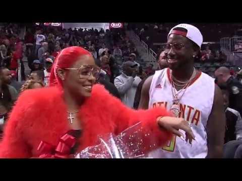 Gucci Mane Proposes To Keyshia Ka'or Live At The Atlanta Hawks Game!