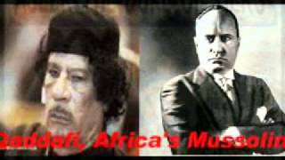 Libyan GADDAFI = Africa's Mussolini - ETHIOPIA V Fascism In The Horn Of AFRICA Then&NWO