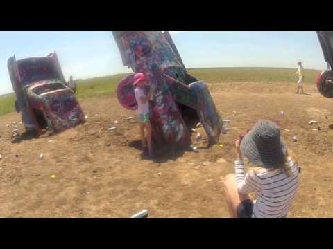 Cadillac Ranch where people are still getting their kicks on Route 66
