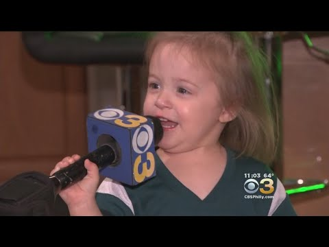 Adorable! 2-Year-Old Melting The Internet's Heart With Eagles Fight Song