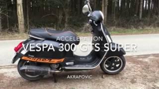 10. Vespa GTS 300 Super Akrapovic Acceleration
