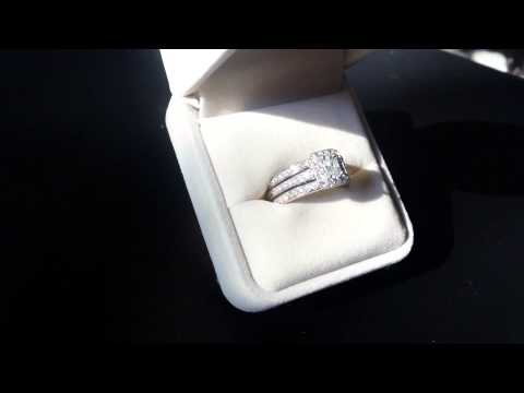 Luxurious 3 Ring Engagement Wedding Set
