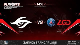 Secret vs PSG.LGD, MDL Changsha Major, game 2 [Jam, Eiritel]