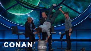It's acceptable to do a keg stand in two places: at a fraternity and at #ConanCon on your birthday.More CONAN @ http://teamcoco.com/videoTeam Coco is the official YouTube channel of late night host Conan O'Brien, CONAN on TBS & TeamCoco.com. Subscribe now to be updated on the latest videos: http://bit.ly/W5wt5DFor Full Episodes of CONAN on TBS, visit http://teamcoco.com/videoGet Social With Team Coco:On Facebook: https://www.facebook.com/TeamCocoOn Google+: https://plus.google.com/+TeamCoco/On Twitter: http://twitter.com/TeamCocoOn Tumblr: http://teamcoco.tumblr.comOn YouTube: http://youtube.com/teamcocoFollow Conan O'Brien on Twitter: http://twitter.com/ConanOBrien