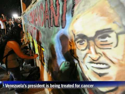 Chavez supporters rally outside Caracas hospital