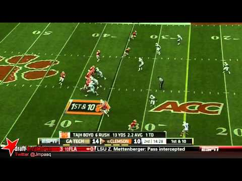 Jeremiah Attaochu vs Clemson 2012 video.