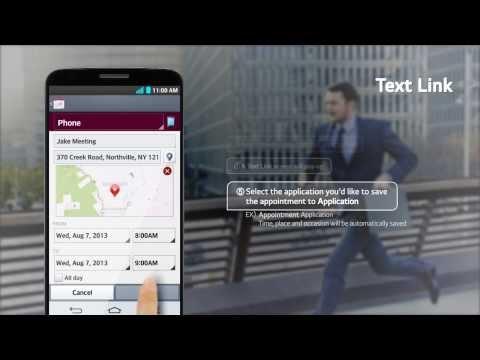 LG G2 - prezentacja funkcji Text Link