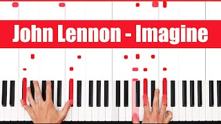 Video Imagine John Lennon Piano Tutorial - ORIGINAL - PART 1 MP3, 3GP, MP4, WEBM, AVI, FLV Agustus 2018