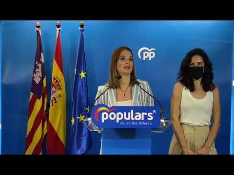Marga Prohens anuncia la elección de Sandra Fernández como nueva secretaria general del PP de las Illes Balears