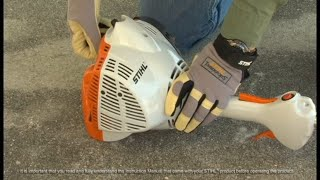 3. STIHL FS 40 C-E Trimmer - How to Unflood