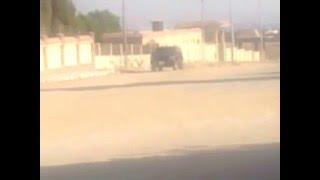 حادث انقلاب سيارة اثناء تصوير مسلسل ابن موت (by Ramy Nour)