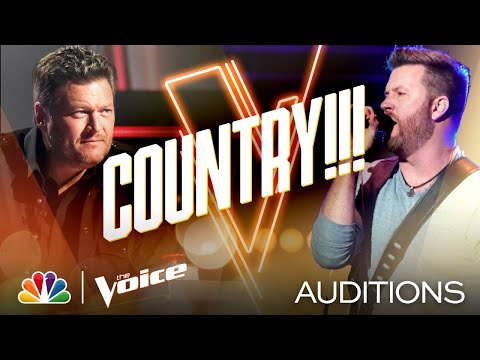 "Country Singer Ben Allen Takes On Brooks & Dunn's ""Red Dirt Road"" - The Voice Blind Auditions 2020"