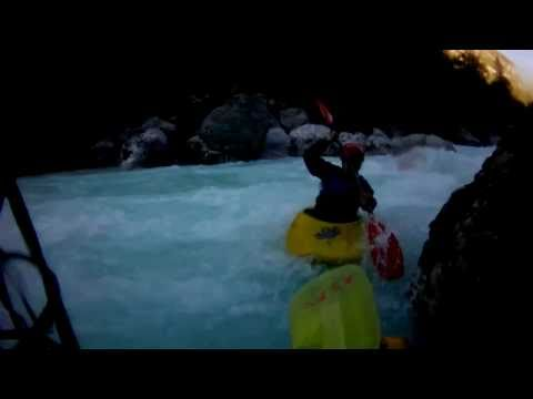 Soca river white water kayaking, Bunker section Slovenia 22-09-2010