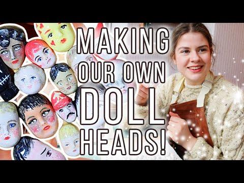 We Make Porcelain Doll Faces from Victorian Mudlarking Finds!