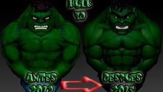 Timelapse HulkToons Zbrush