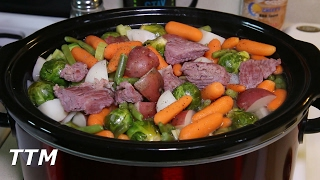 In this easy cooking video, I make some corned beef soup in my Crock-Pot slow cooker. http://amzn.to/2kngphP The ingredients I used are 1 corned beef brisket, ...