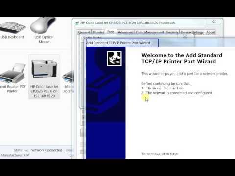 Changing IP on HP printer