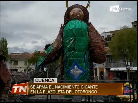 Se arma el nacimiento gigante en la plazoleta del Otorongo